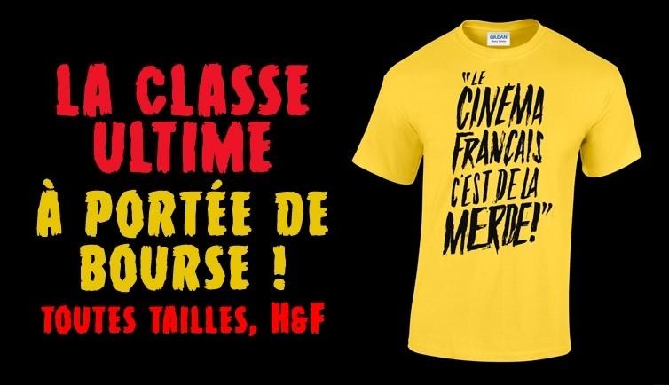 """T-shirt """"Merde !"""" jaune"""